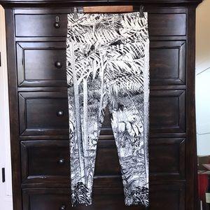 Norma Kamali high rise abstract leggings